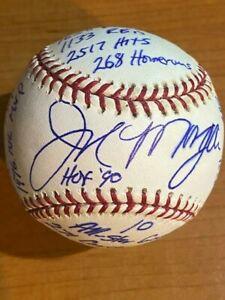 Joe Morgan HOF 90 - Signed Autographed MLB STAT Baseball - RJ.com - #d/1000
