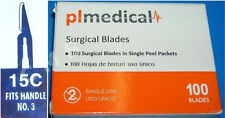 CMS #15C Surgical Dental Medical Blades Scalpels Carbon Steel 100/BX Sterile