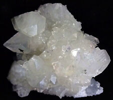 STUNNING POINTED APOPHYLITE CRYSTALS W/ MM QUARTZ ON COATING CALCITE #17.7