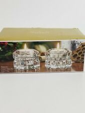 Shannon by Godinger Crystal Votive Candleholders Set of 2 New