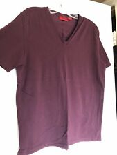 Mens Hugo Boss Burgundy V Neck T Shirt Size Medium
