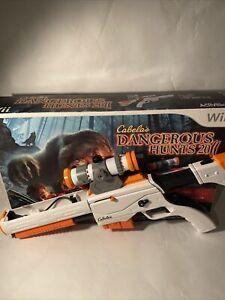 Cabela's Dangerous Hunts 2011 (Nintendo Wii) Game Top Shot Elite Gun