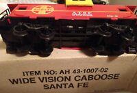 43-1007-02 Bachmann HO Scale Wide Vision Caboose Santa Fe w/ Factory Box