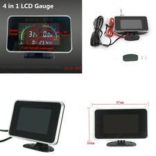 Car Auto 4 in 1 LCD Digital Display Voltmeter/Water Temp/Oil Pressure/Fuel Gauge