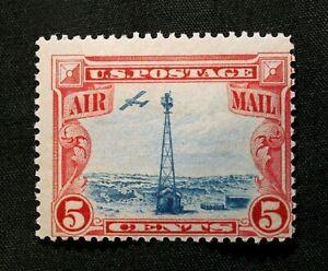 US Stamp Scott #C11 ~ Beacon on Rocky Mountains 1928 5c MH GR07