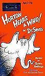 Horton Hears a Who! Dr. Seuss Book/Cassette New Sealed read by Dustin Hoffman