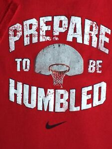 Nike Shirt Size 4 4T Basketball Top Red Prepare To Be Humbled Boys Girls