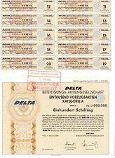 DELTA Beteiligungs AG  1992 Wien   100000 Schilling