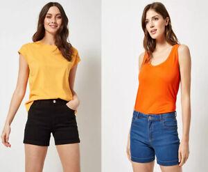 Dorothy Perkins Frauen Stretch Slim Jeans Sommer Denim Shorts 6 8 10