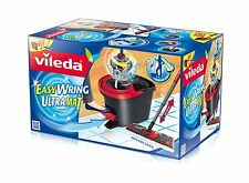 Vileda Easy Wring Ultramat Flat Mop and Bucket & Power Spin Wringer Home Clear