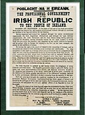 1916 The Proclamation of the Irish Republic - POBLACHT NA H EIREANN Poster A3