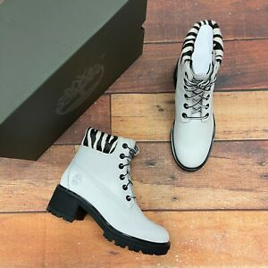 Timberland Women's Kinsley 6 Inch White/ Zebra Boots A2GYZ
