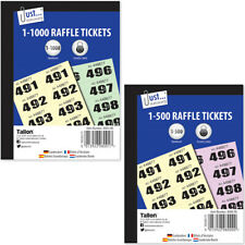More details for cloakroom tickets - raffle tickets coloured book draw tombola 500 1000 pages