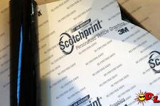"3M Scotchprint Gloss Black Wrap Film 8""x72"" 4sq ft."
