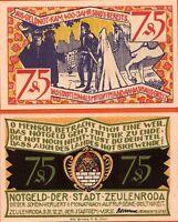 Allemagne  Notgeld billet neuf de  75 pf  ZEULENRODA 1921