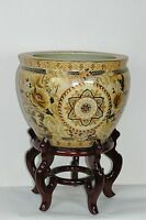 Collectibles Oriental Japanese satsuma porcelain planter