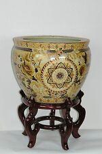 Collectibles Oriental Japanese satsuma porcelain planter