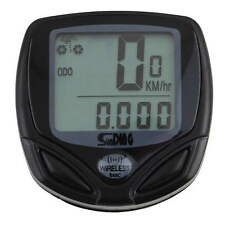 Wireless LCD Cycle Computer Bicycle Meter Speedometer Odometer For Bike SM