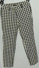 Ann Taylor Loft Women's Ankle Pants Sz 8 Black White Marisa Straight + Pockets #