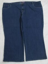 Woman Within Jeans Pants 36WP Thirty Six Blue Cotton Poly Spandex Women's Solid