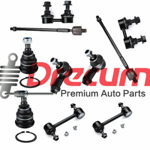 10Pc Front Tie Rod Ends Lower Ball Joint Sway Bar Link For Hyundai Elantra 01-06