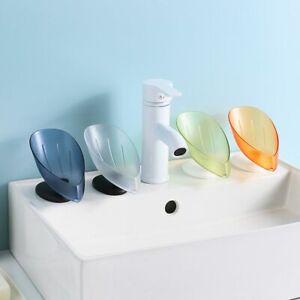 Tray Suction Cup Plastic Drain Rack Soap Dish Storage Soap Holder Soap Box