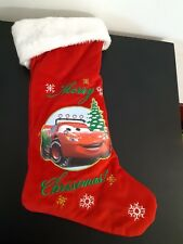 "Disney Cars Stocking Christmas Holiday Lightning McQueen 21"" Long Red Snowflake"