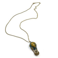 Hot Air Balloon Colorful Fashion Glazed Necklace Long Chain Pendant Jewelry