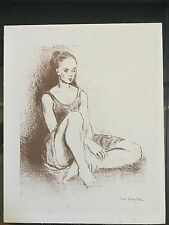 "Moses Soyer ( Signed) Lithograph "" Young Dancer """