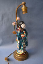 JAPANESE PORCELAIN WONDERFUL ANTIQUE 19th,C GEISHA STATUE TABLE LAMP