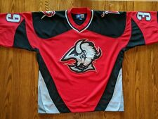 Rare Dominik Hasek #39 Vintage Buffalo Sabres Red Goat Head Alt Jersey Large