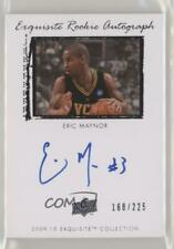 2009-10 Exquisite Collection /225 Eric Maynor #63 Rookie Auto