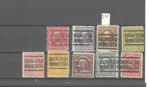 JimbosStamps, U.S.precancels,1917 Wash. Frank. iss. , ROCHESTER MINNESOTA