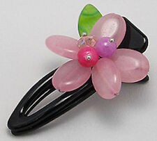 47mm BIG BEAUTY Flower Hairclip with Rose Quartz Retail: $30