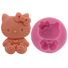 3 D kitty cat paw silicone fondant mold for cake candle soap making
