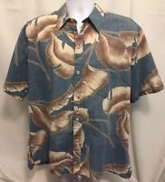 Cooke Street Mens Hawaiian Reverse Print Shirt Sz XL Cotton Made In USA
