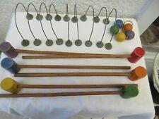 Ancien jeu de croquet de table en b ois