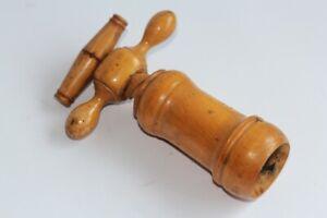 Ancien tire-bouchon Cloche bois (49731)
