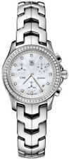 CJF1314.BA0580 Tag Heuer Link Ladies Diamond Pearl Quartz Chronograph Watch Box