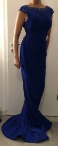 Kleid Terani Couture Original Neu! Abendkleid  Gr.36  S blau