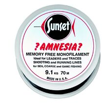 SUNSET - Amnesia-Vorfachschnur Black 100m  15LB  6,8kg