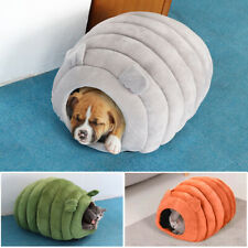 Cat Cave Bed House Igloo Pet Small Dog Washable with Inner Cushion Mat Basket