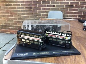 Oxford Diecast Guinness Routemaster And Rgent 1/76 Scale In Good Condition