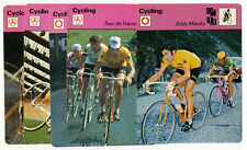 Lot x5 1977-79 Sportscaster CYCLING Cards EDDIE MERCKX x2 Bicycle Racing Tour De