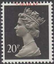 GB Stamps 1989 Machin Definitive, 20p Brownish-Black, 2 Bands, S/G X916, VFU
