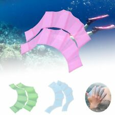 Silicone Swim Fins Hand Webbed Flippers 1 Pair Training Paddle Gloves Water Gear