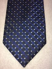 STAFFORD MENS TIE 3.5 X 59 BLACK WITH BLUE AND PURPLE ACCENTS NWOT