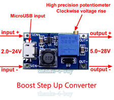 2A DC Boost Step up Adjustable Converter Micro USB 3-24V to 5v-28V 6v 9v 12v 24v