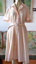 Vintage  Apricot summer dress mid century size 14 ladies dress mid century