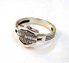 Biker Ring MOTOR Shield #1266 sterling silver 925 size 13